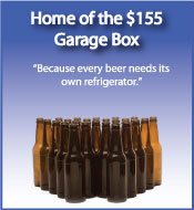 Garage and beer refrigerators at Big Jon's Used Appliances